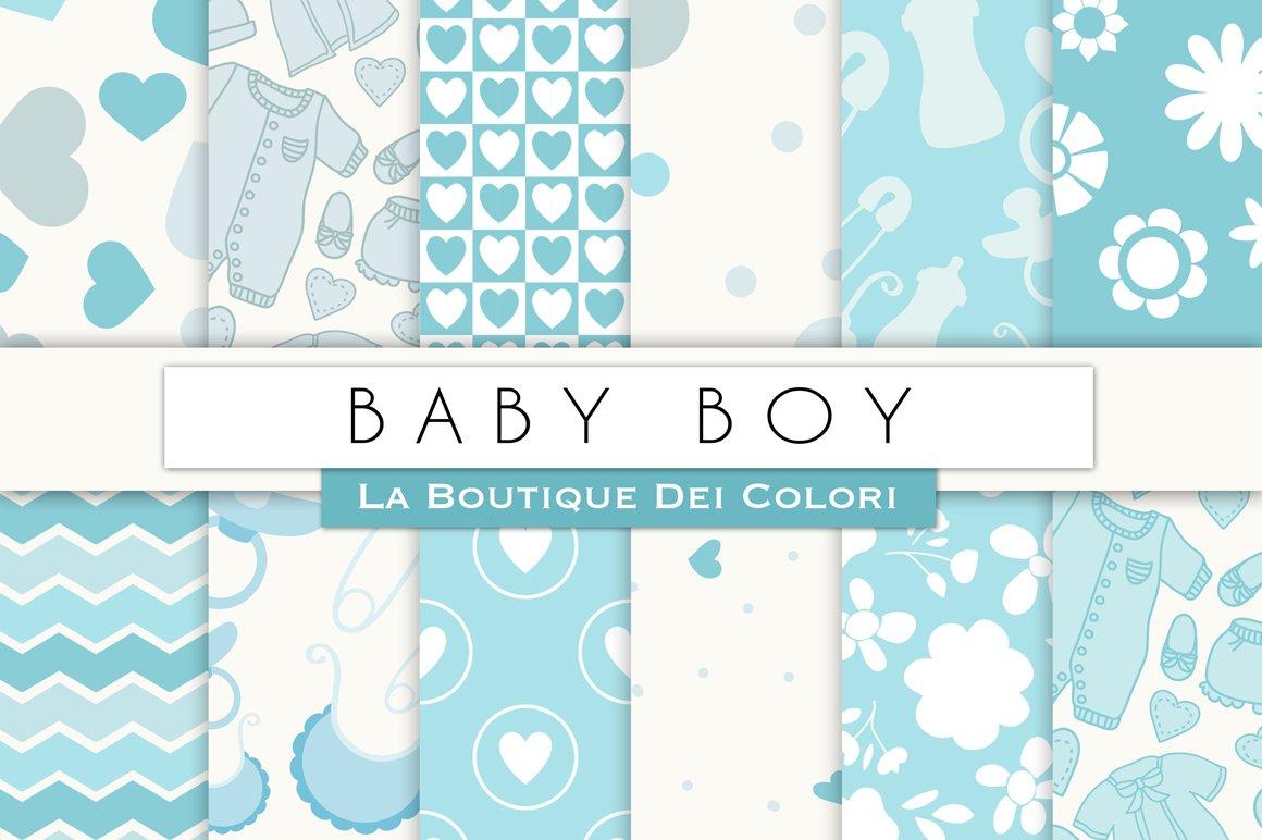 Baby Boy Digital Paper Graphic Patterns Creative Market