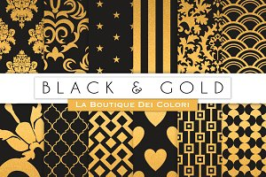 Black and Gold Digital Paper