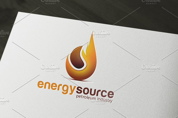 Petroleum and Gas Energy Logo in Logo Templates - product preview 1