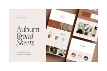 Auburn 24 Brand Sheets by  in Presentations