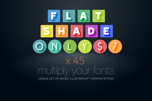 AI CS5 graphic styles flat Shade
