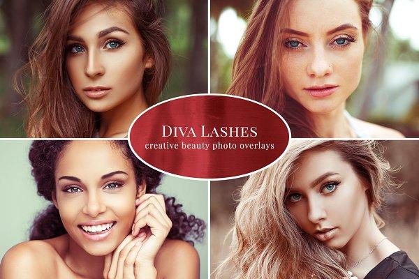 Diva Lashes photo overlays