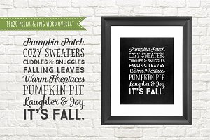 Fall Autumn Quote Text Word Overlay