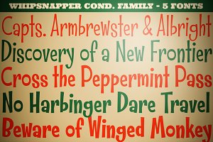 Whipsnapper Condensed Family