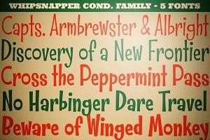Whipsnapper Condensed Family