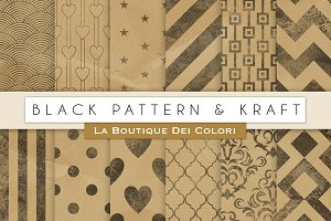 Stamped Kraft Digital Paper