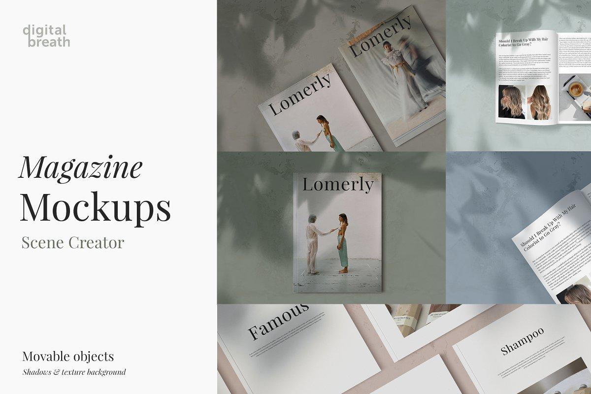 Magazine Mockup in Scene Creator Mockups - product preview 8