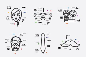 9 hipster infographics