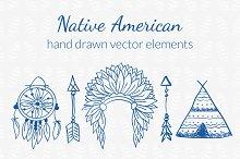 Native American Hand drawn Set