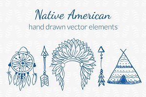 Native American Hand drawn Set
