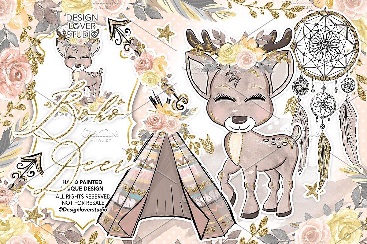 Deer boho. Cute design