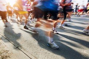 Running fast in marathon