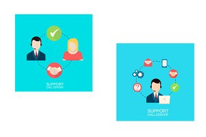 2 support call center illustrations