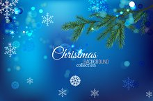 4 Christmas Backgrounds Set