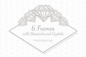 6 Frames with Diamonds and Crystals