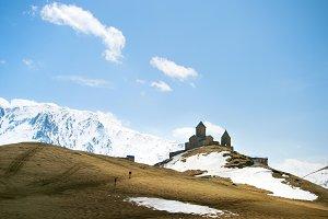Mountain church near Kazbek,Georgia