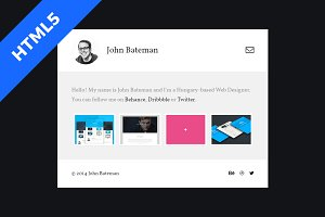 Bateman - Simple HTML5 Portfolio