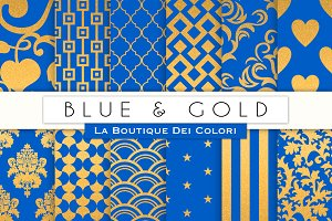 Blue & Gold Digital Paper