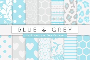 Blue & Grey Digital Paper