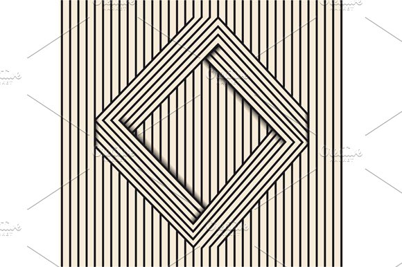 Line Optical Designing : Optical illusion line art graphics creative market