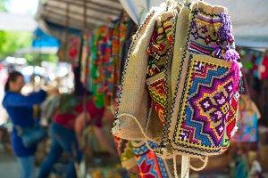 Traditional colorful georgian bags