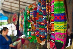 Traditional georgian colorful socks