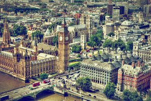 City of London - aerial view