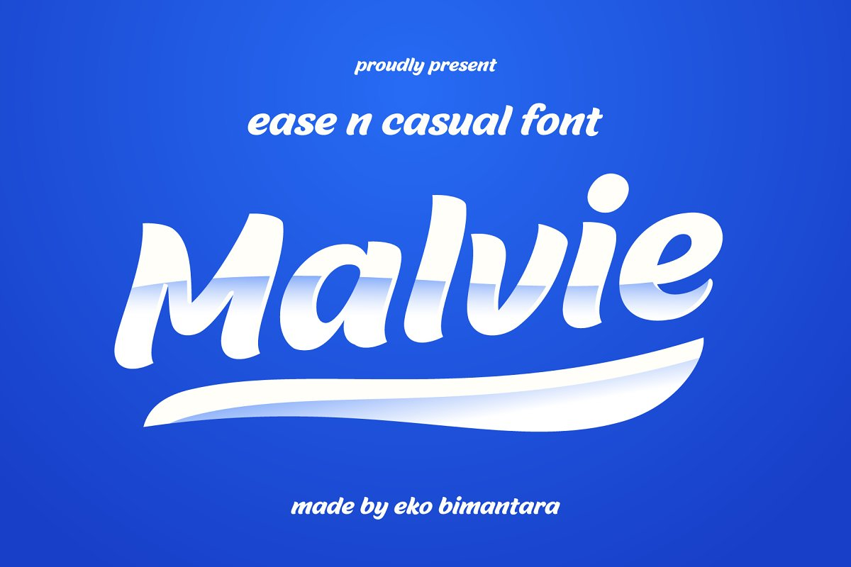 Malvie Fun and Casual Font