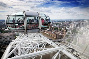 View of the city from the London Eye
