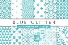 Blue Glitter Digital Paper