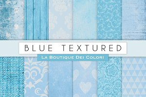 Blue Textured Digital Paper