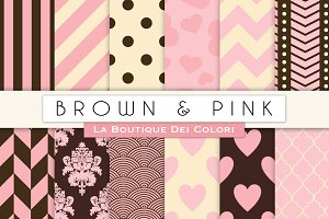 Brown & Pink Digital Paper