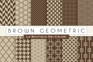 Brown Geometric Digital Papers