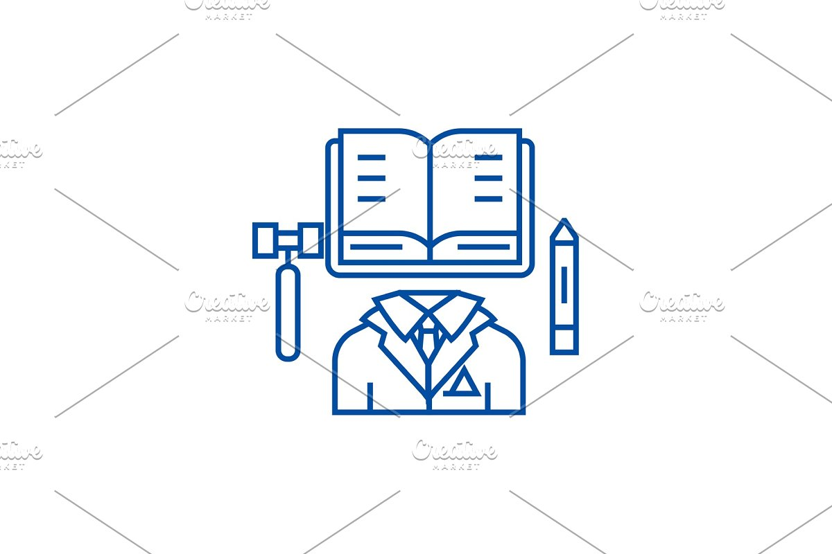 Business law,open book line icon