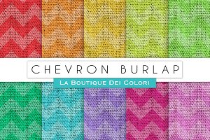 Chevron Burlap Digital Paper