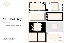 12 Minimal City Youtube Frames by  in Social Media