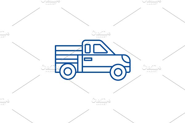Car pickup line icon concept. Car