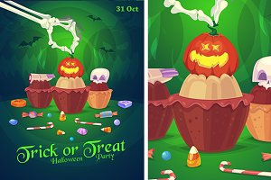 Halloween card or poster