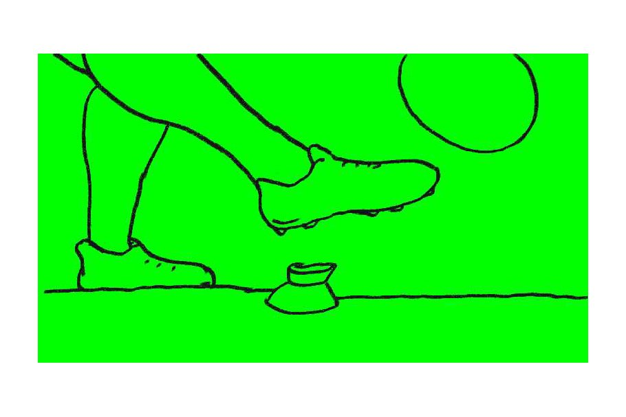 Animation Rugby Ball Kick Basketball