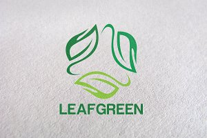 eco, herbal, leaf, green Logo Design