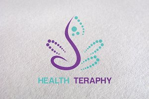 beauty, therapy, care, healthy Logo