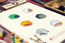 Pixie Badges (21 Illustrations)