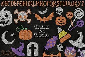 Chalkboard Halloween Clipart
