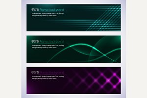 Dark design banners template