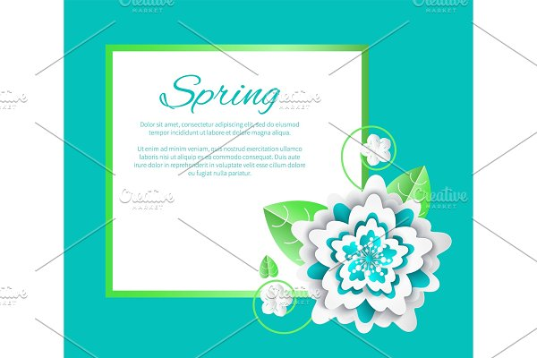 Spring Flower and Poster with Text