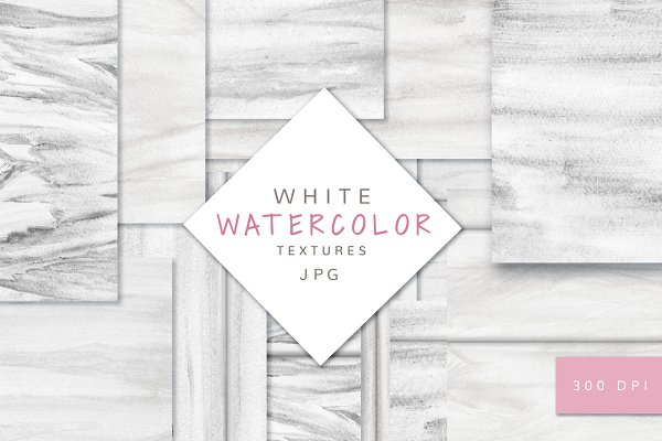 White Watercolor textures