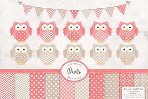 Coral Owl Vectors & Papers