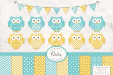 Fresh Blue Owl Vectors & Papers