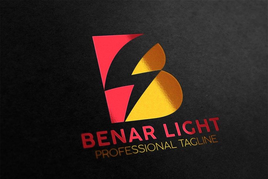 B Letter Lightning Logo ~ Logo Templates ~ Creative Market