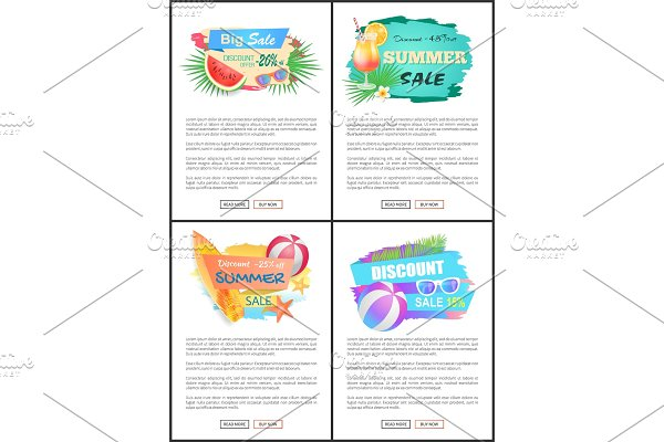 Summer Big Sale Banners Online Web